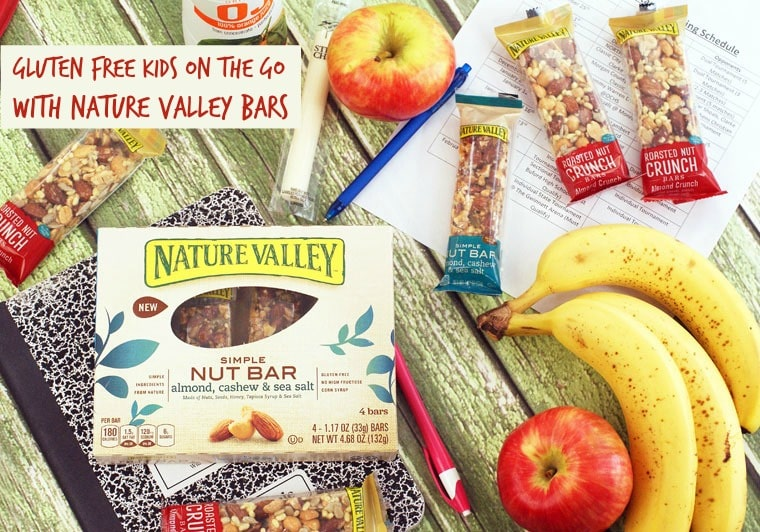 Gluten free kids on the go with Nature Valley Bars. Get gluten free snacking on the go tips at This Mama Cooks! On a Diet