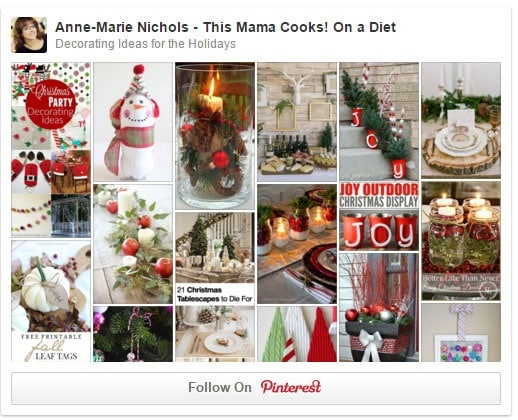Visit my Decorating Ideas for the Holidays Pinterest board - This Mama Cooks! On a Diet