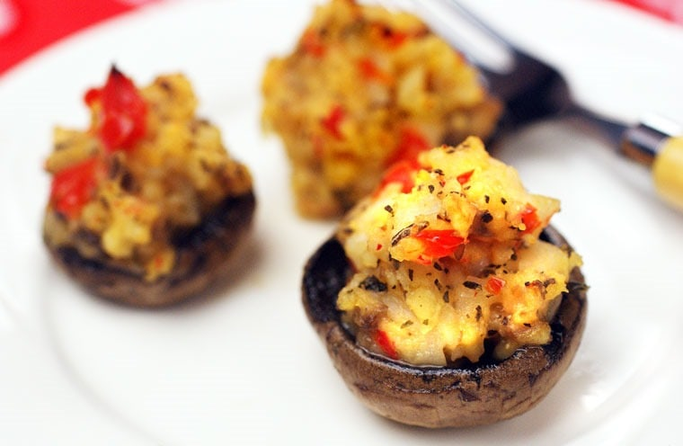 Gluten Free Crab Stuffed Mushrooms Appetizers. Get the gluten free appetizer recipe at This Mama Cooks! On a Diet