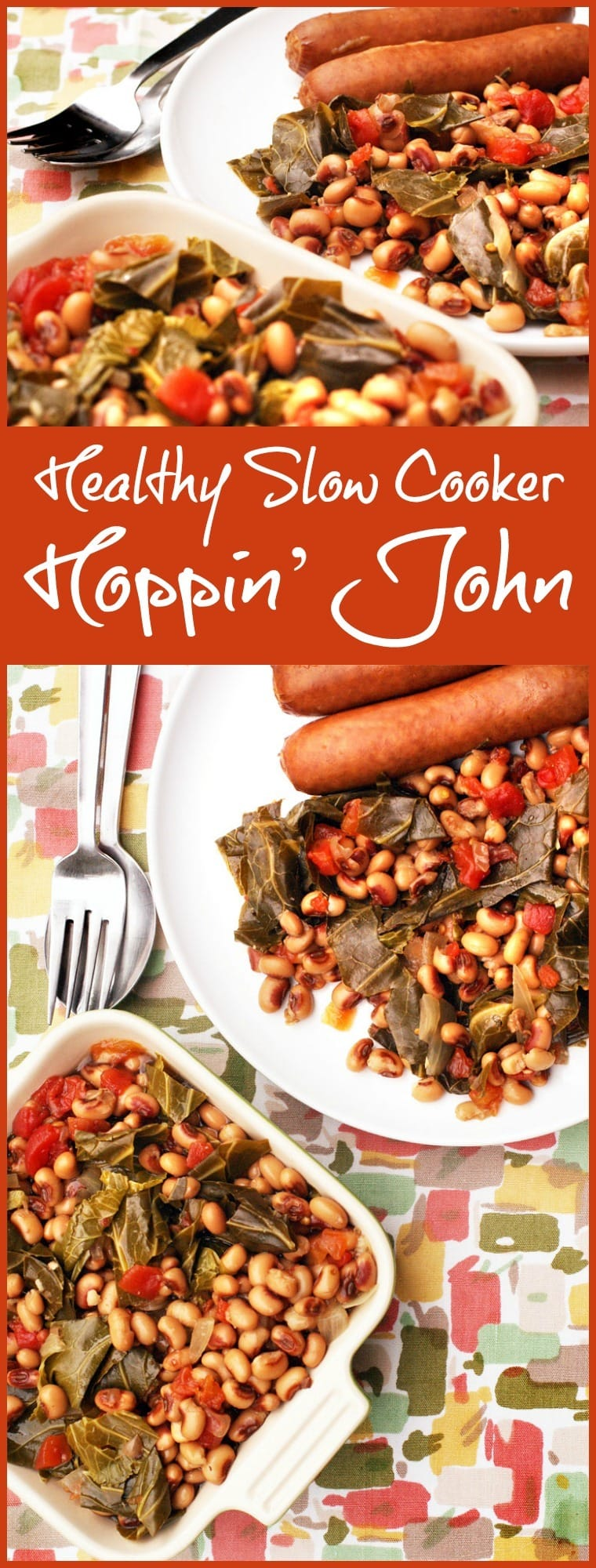 Looking for a hoppin john recipe for New Year's Day? Here's one that's healthy that you can make in the slow cooker? Get the crockpot Hoppin' John recipe at This Mama Cooks! On a Diet