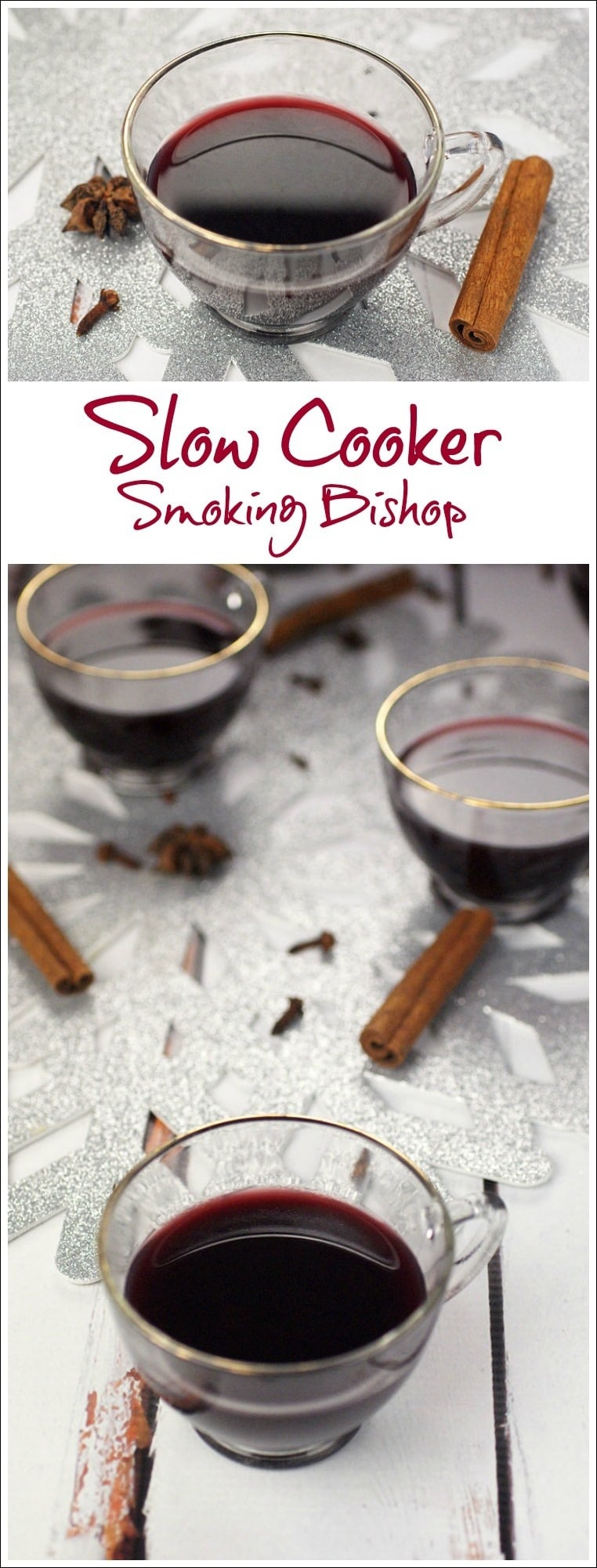 Need a mulled spiced wine recipe for a Christmas or New Year's Eve party. Smoking Bishop is a warmed, spiced fruit wine and port drink. Usually it takes two days to make, but this recipe cuts the time to half a day by using a slow cooker! Find this party drink recipe at This Mama Cooks! On a Diet