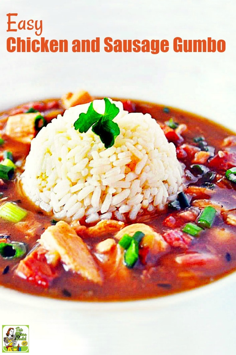 Looking for an Easy Chicken and Sausage Gumbo Recipe that's also healthy? Click to try this healthy chicken and sausage gumbo recipe. Comes with a gluten free option. #recipes #easy #recipeoftheday #healthyrecipes #glutenfree #easyrecipes #gumbo #soup #souprecipes #chicken #chickenrecipes #sausage #sausagerecipes
