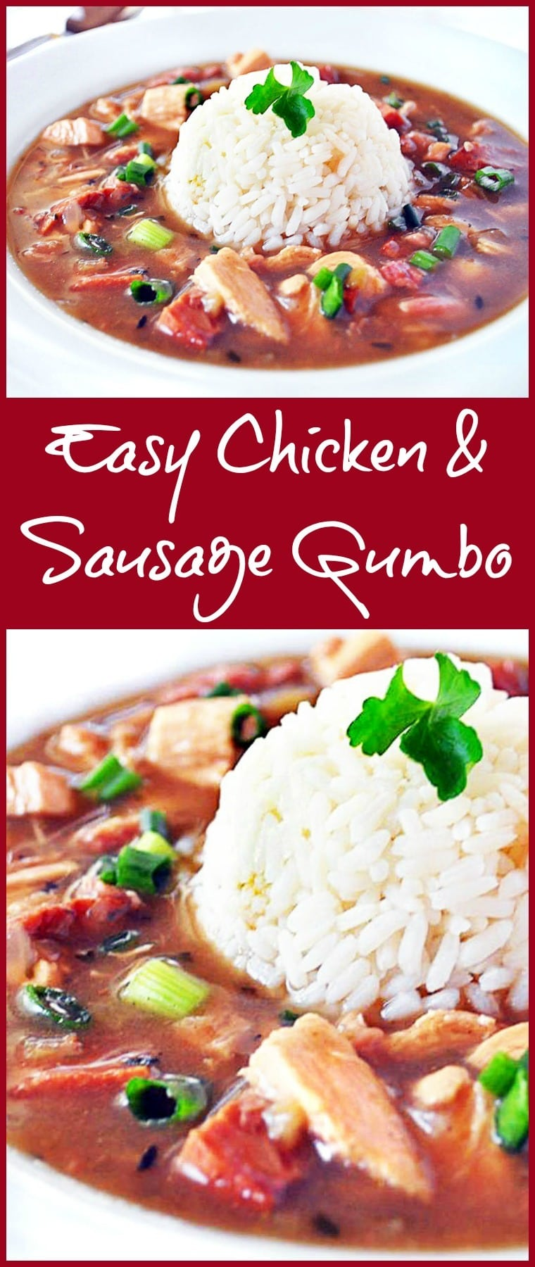 Looking for an Easy Chicken and Sausage Gumbo Recipe that's also healthy? Try this spicy Cajun gumbo recipe from This Mama Cooks! On a Diet and Holly Clegg.