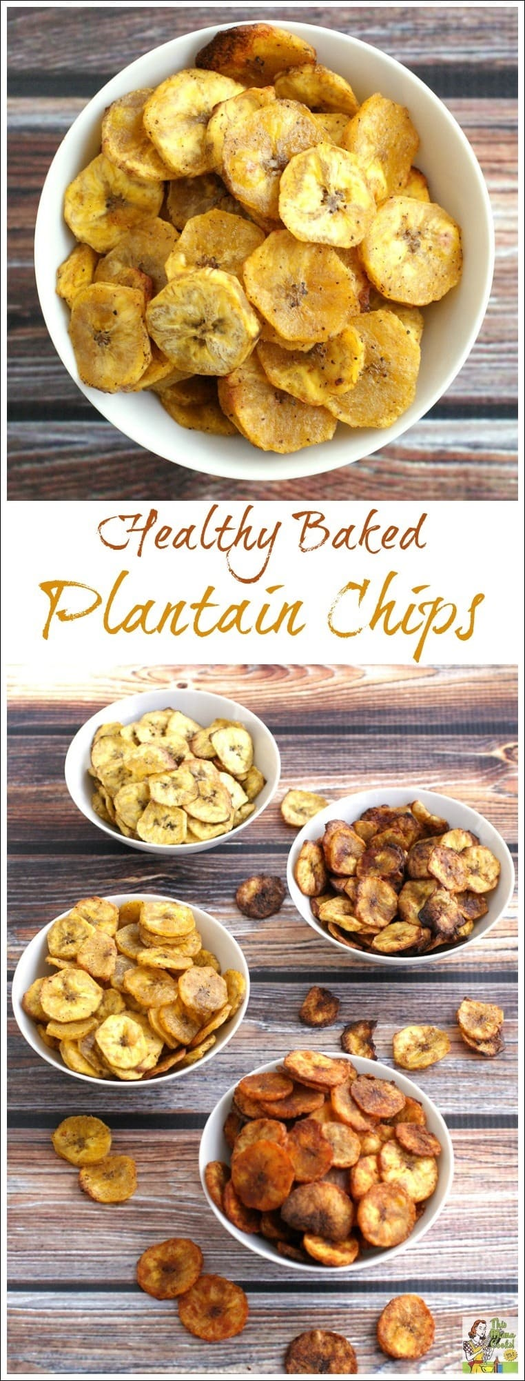 Healthy Baked Plantain Chips Four Ways | This Mama Cooks ...