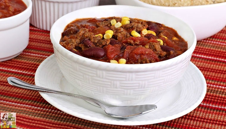 A bowl of hearty 7 Can Taco Soup