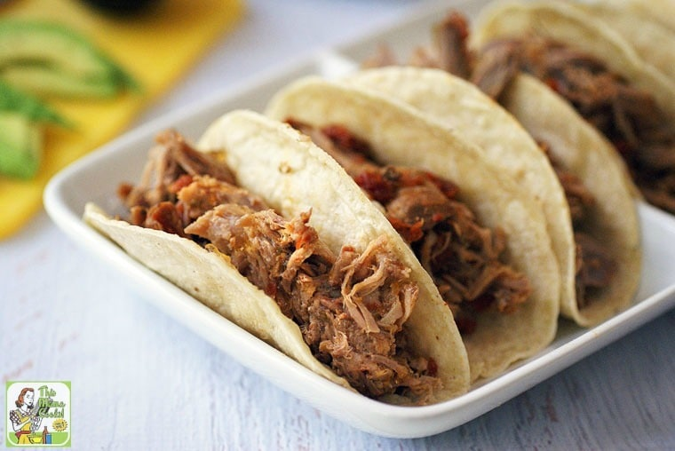 This is the Best Slow Cooker Spicy Pulled Pork Tacos recipe you'll have for Taco Night or Taco Tuesday!