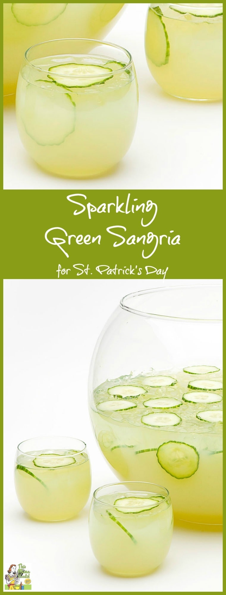Gluten free or looking for an alternative to heavy Guiness or yucky green beer? Try this refreshing gluten free Sparkling Green Sangria recipe for St. Patrick's Day. It's a skinny green cocktail alternative! Click to get this green St. Patrick's Day drink recipe.