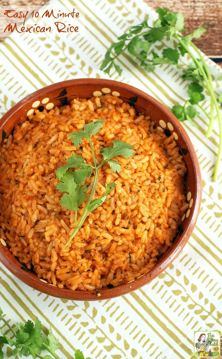 Easy 10 minute mexican rice this mama cooks on a diet its not taco night unless you have mexican restaurant style rice its so simple to forumfinder Image collections