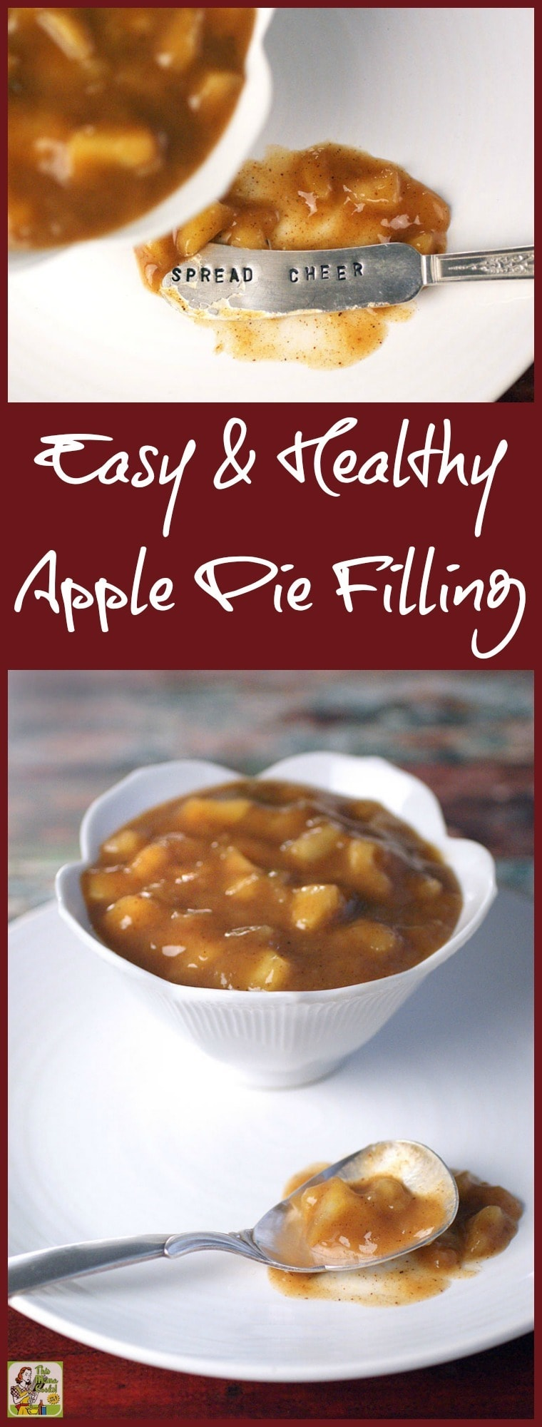 How to make an Easy & Healthy Apple Pie Filling for all your baking needs. The best apple pie filling recipe is easier to make than you think! Click to get this gluten free recipe. Double or triple a batch and freeze to use in all sorts of apple pie dessert and baking recipes.