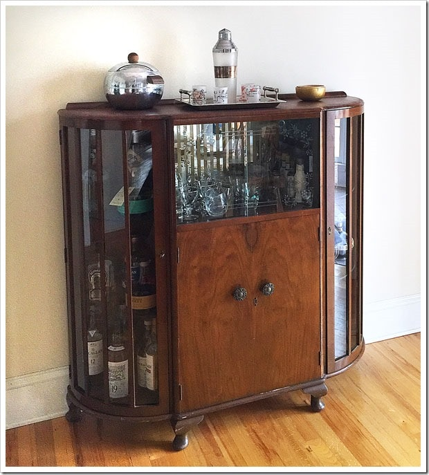 When we bought a vintage bar, we freed up some room in our pantry and got to show off our collection of vintage barware.