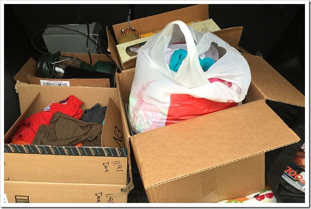 Get rid of unwanted stuff by donating or recycling it!