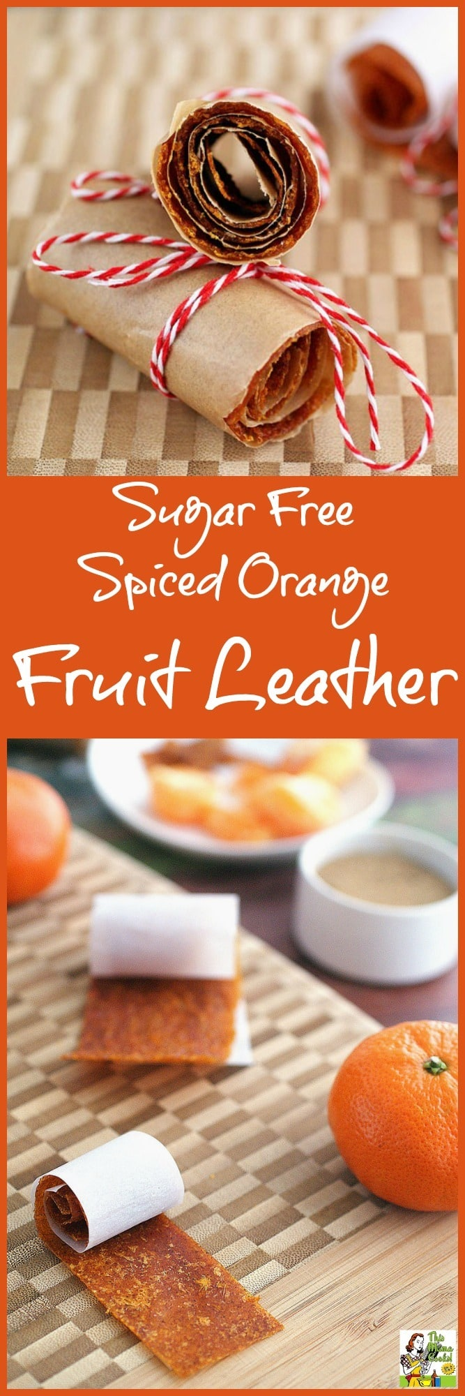 Make this Sugar Free Spiced Orange Fruit Leather recipe as an alternative to store bought foot roll up candy snacks. Click to learn how to make this easy fruit leather recipe in a fruit hydrator or oven.
