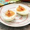 Sriracha Roasted Red Pepper Deviled Eggs