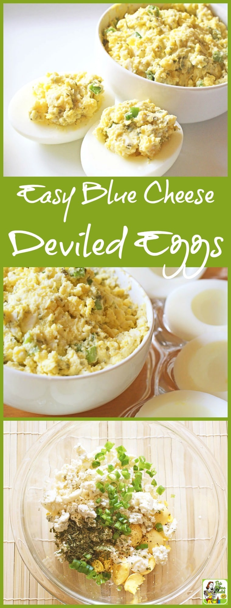 Looking for an easy to make appetizer that's also gluten free? This Easy Blue Cheese Deviled Eggs recipe is ideal for parties and potlucks.