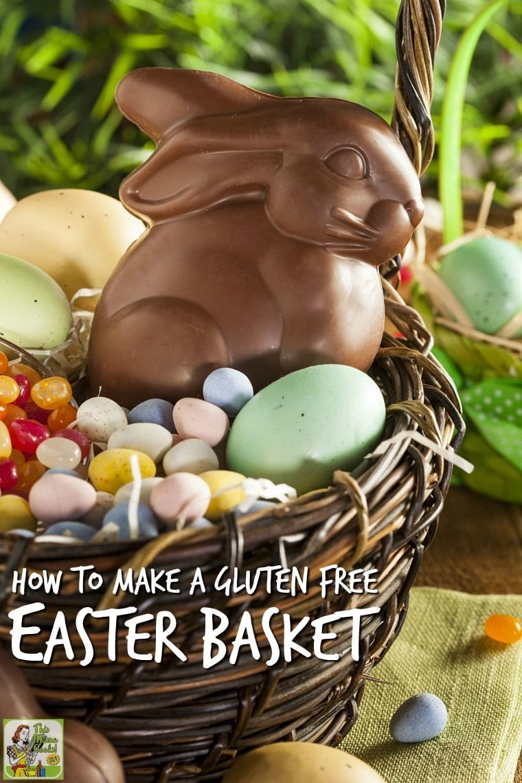 How to Make a Gluten Free Easter Basket. If you're wondering how to make a gluten free Easter basket for your child or grandchild, here's a list of safe candies. There's also tips on non-candy items to include in your Easter gift basket - everything from lip balm and art supplies to ear buds and gift cards.