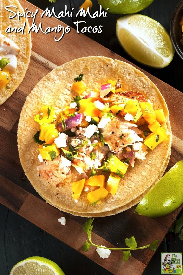 Looking for a healthy fish taco recipe? Try this Spicy Mahi Mahi and Mango Fish Taco recipe from Jillian Michaels.