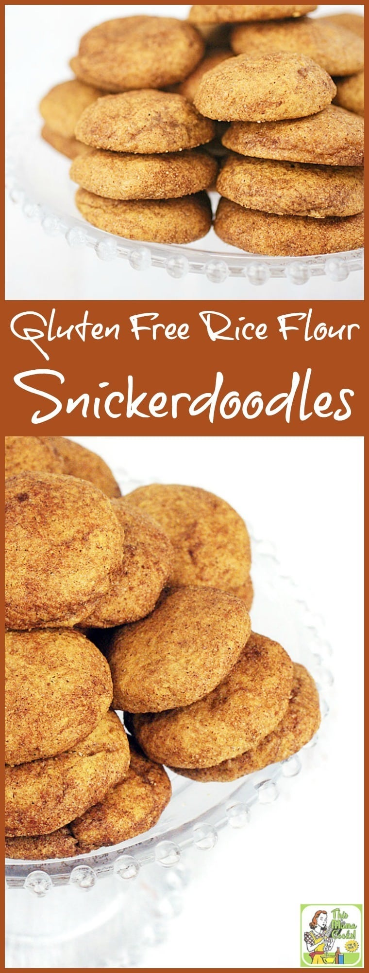 Looking for a gluten free cookie recipe? Click to get the recipe for this easy to make Gluten Free Rice Flour Snickerdoodles cookie recipe. Perfect for cookie exchanges or homemade gifts. #recipe #easy #recipeoftheday #healthyrecipes #glutenfree #easyrecipes #baking #cookies #cookieexchange
