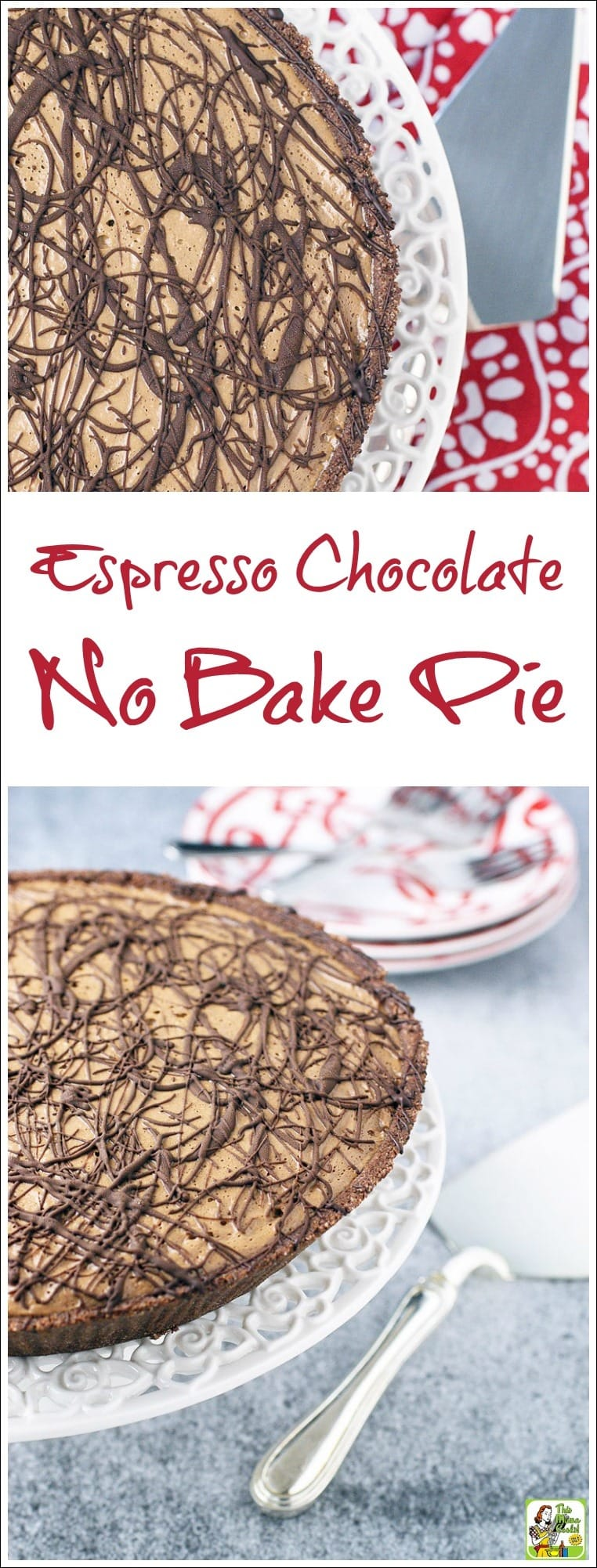Looking for a gluten free, dairy free, egg free, or vegan dessert recipe? Try this Espresso Chocolate No Bake Pie! This dessert is  packed with plant based protein since it uses silken tofu and soymilk. It's also an easy to make dessert recipe that all chocolate fans will love!