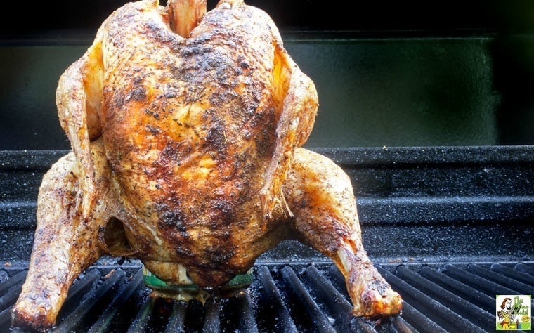 Learn an easy way how to make smoked beer can chicken