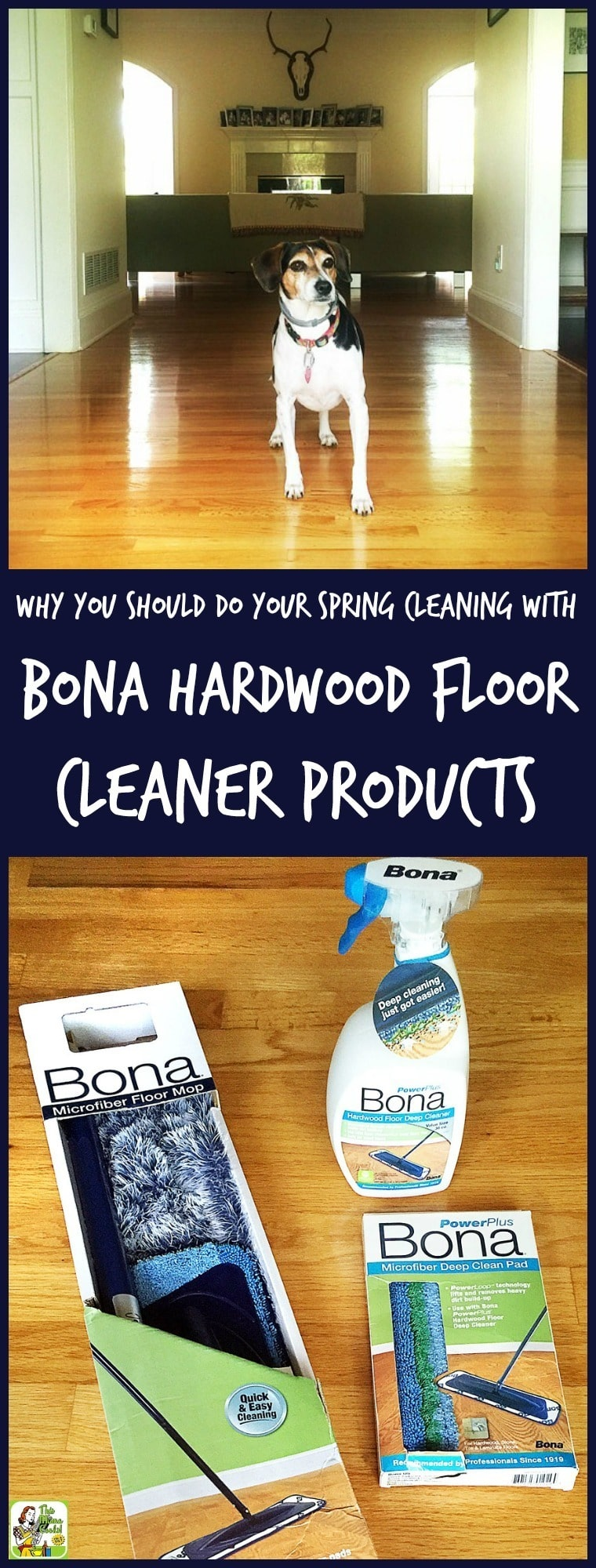 Got hardwood floors? Gorgeous clean floors are why you should do some spring cleaning with Bona hardwood floor cleaner products!