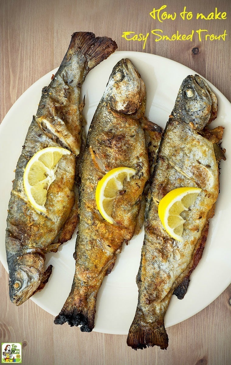 Learn how to make smoked trout for dinner! It's easier than you think if you have a smoker or a grill that you can smoke in. Just make a simple marinade from salad dressing. Once you've tasted smoked trout, you'll never want to have lake fish another way!  #trout #fish #fishfry #electricsmoker #smoker #grilling #smoking #smokedfish #marinades #fishmarinades #smokedtrout