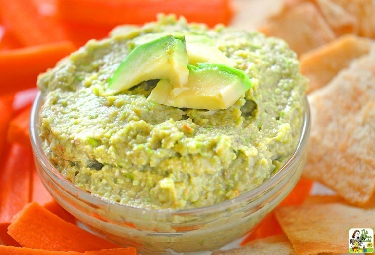 edamame and avocado spread