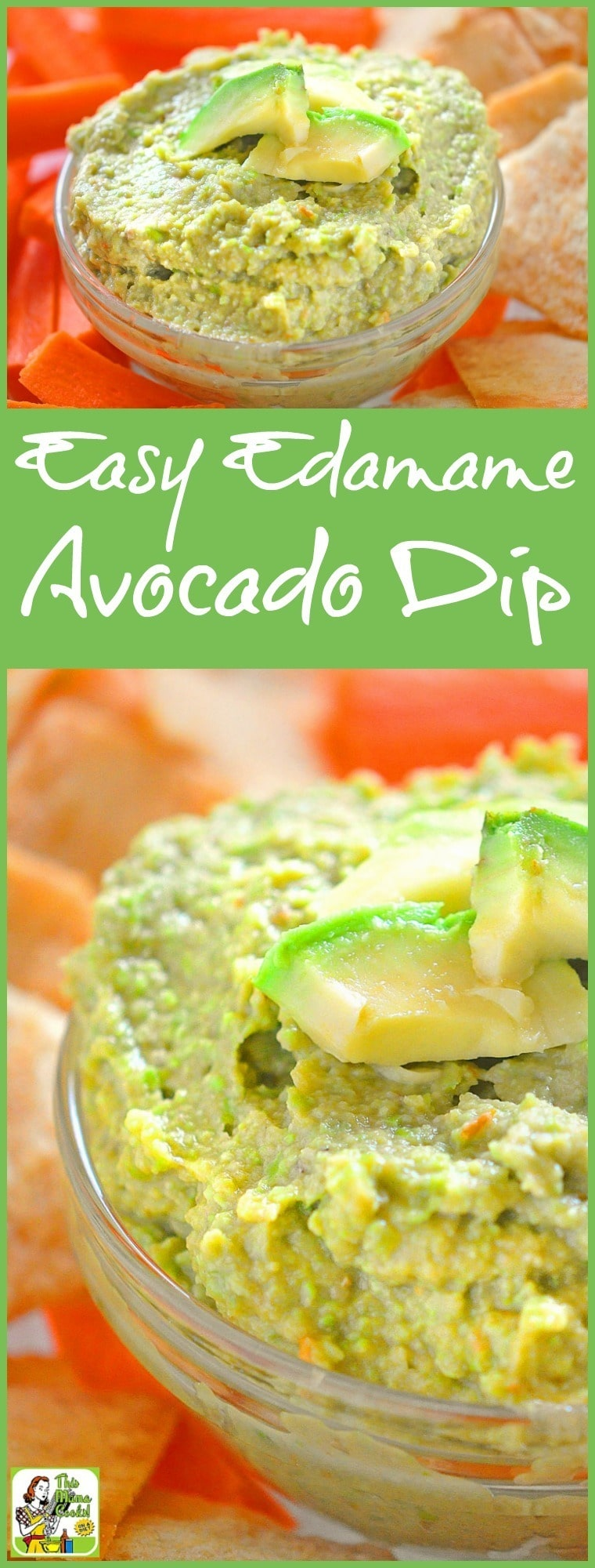 Looking for a healthy and gluten free dip recipe? Try this Easy Edamame Avocado Dip recipe! It can be made in just a few minutes in your food processor or high speed blender.