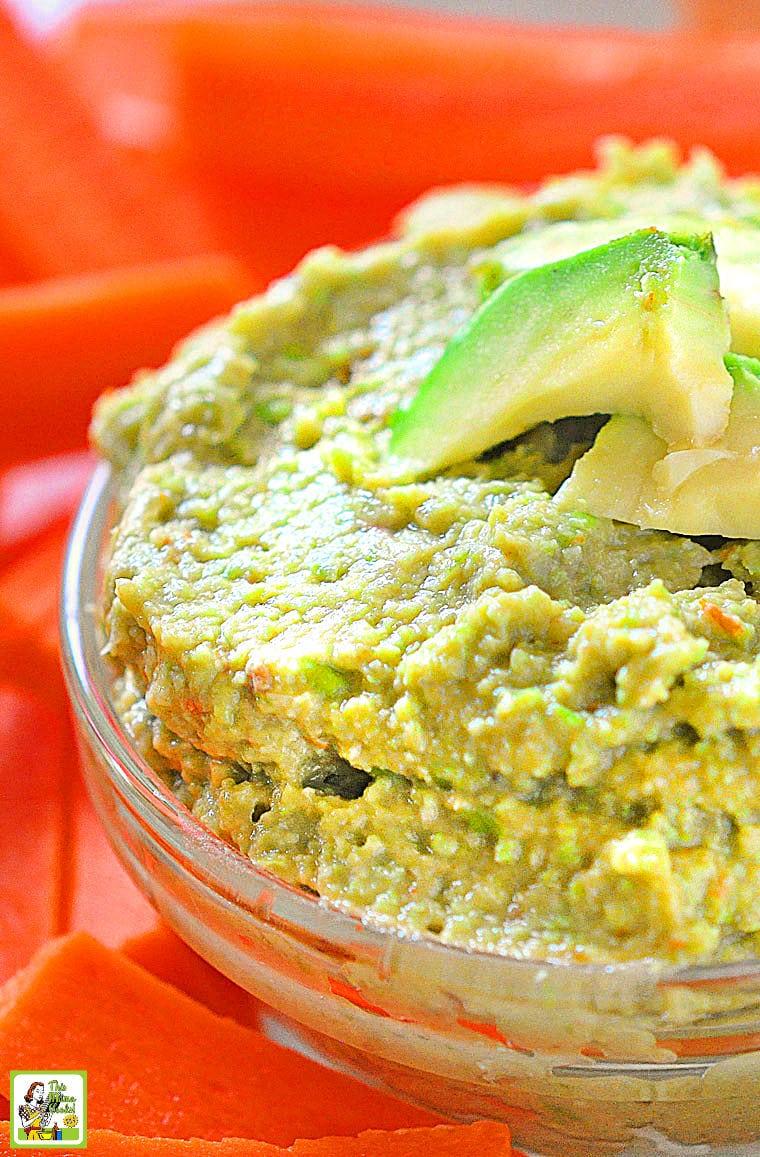 A bowl of green Edamame Avocado Dip