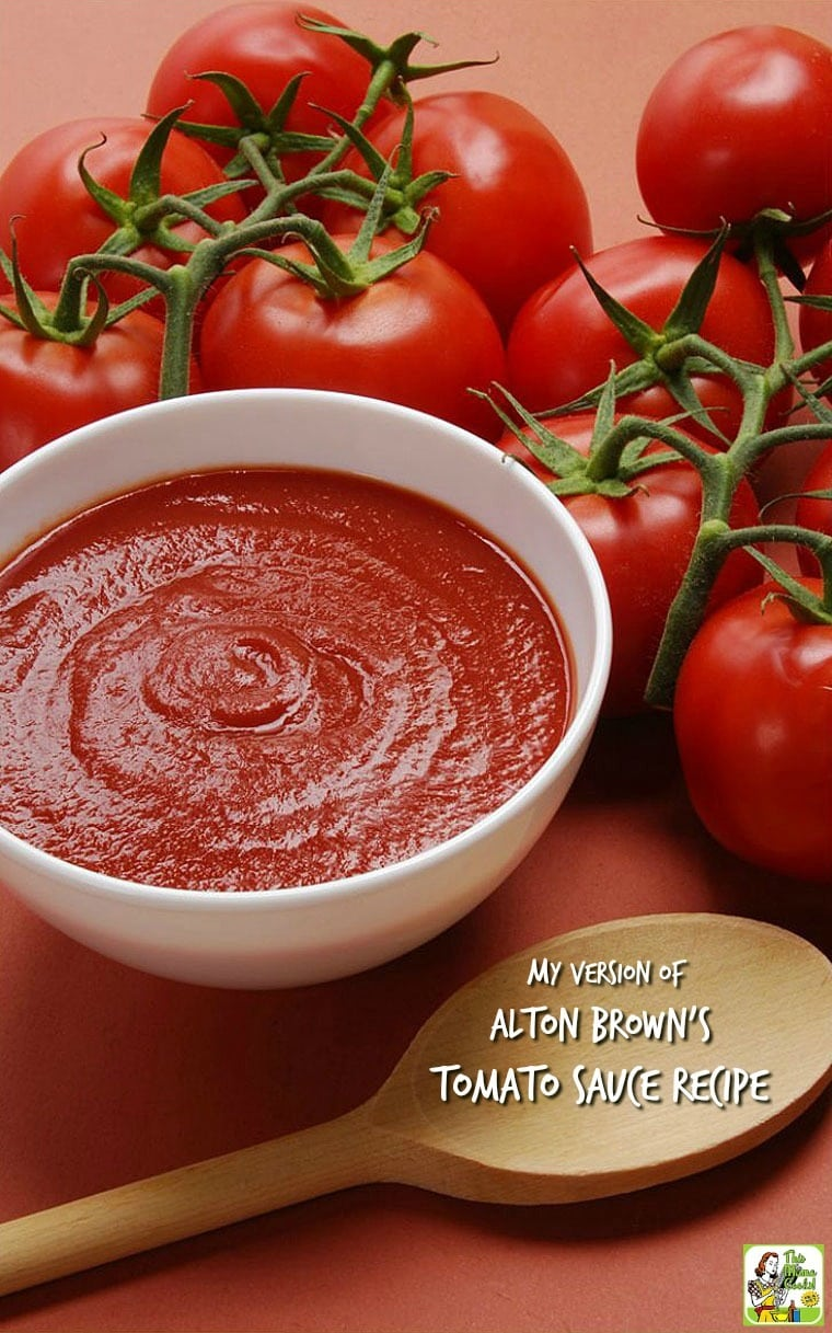 Looking for an easy homemade tomato sauce recipe? Or want to make easy fresh tomato sauce from scratch? Here's my version of Alton Brown's tomato sauce recipe.