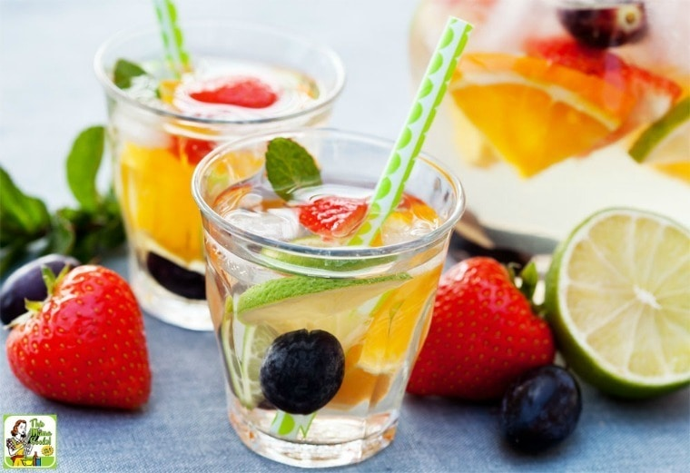 Make this Easy White Sangria recipe with fruit for your next party or barbecue!