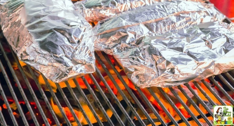 Grilled salmon in foil over a campfire the ideal camping recipe grilled salmon in foil over a campfire ccuart Gallery