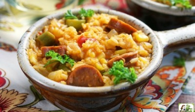One Pot Andouille Sausage Jambalaya Recipe
