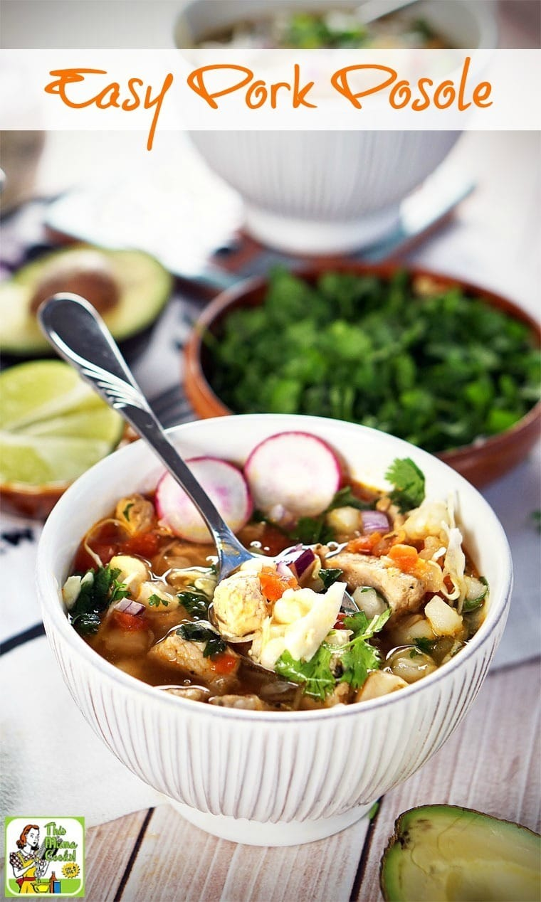Make this Easy Pork Posole recipe in 30 minutes or less! This New Mexican pasole favorite is made with grilled or sauteed marinated pork loin and hominy.