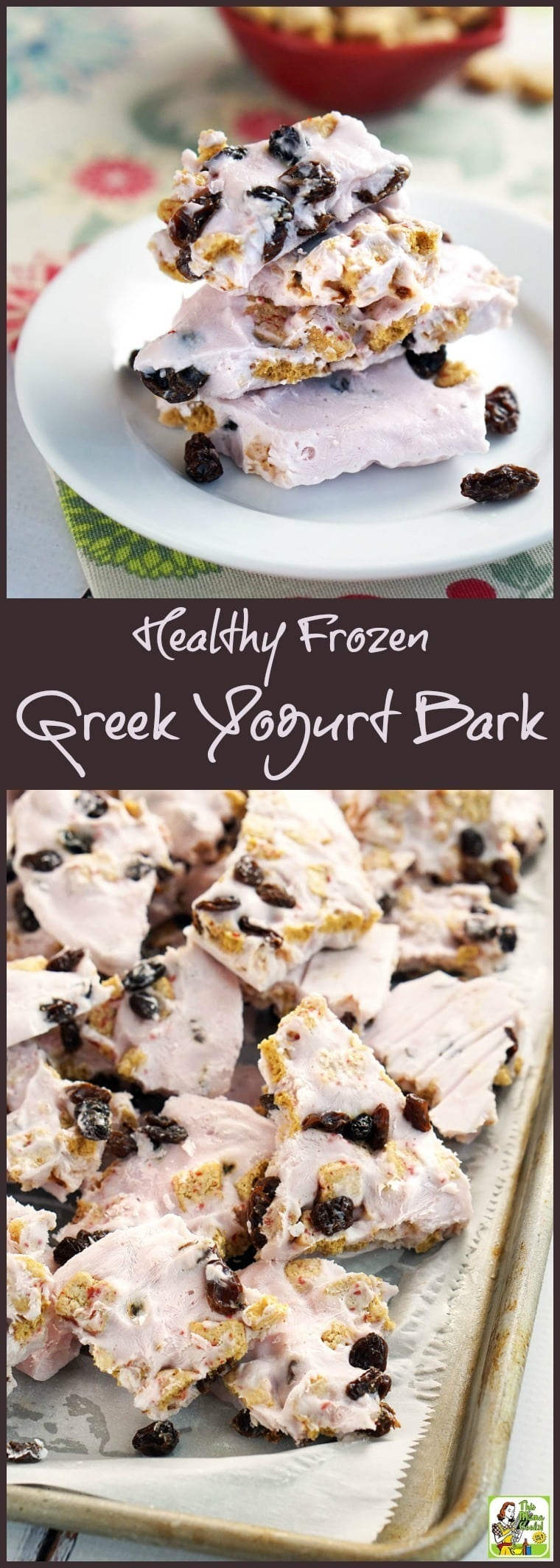 This Healthy Frozen Greek Yogurt Bark recipe is a protein packed snack that your kids will love. Easy to make, keep a supply of yogurt bark in the freezer for a quick breakfast or healthy snack. Click to get this healthy frozen treat recipe.