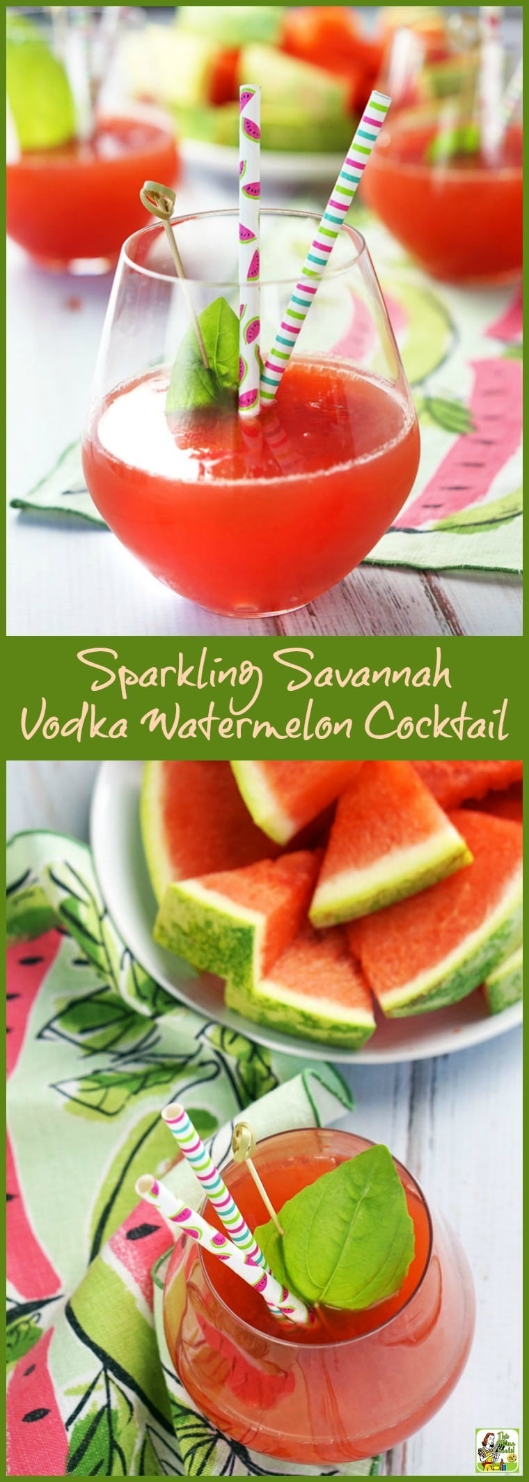 The best fresh watermelon cocktail for summer! Make this Sparkling Savannah Vodka Watermelon Cocktail recipe with fresh watermelon juice, vodka, sparkling wine, and St. Germain liqueur. Clikc to get this refreshing watermelon cocktail recipe.