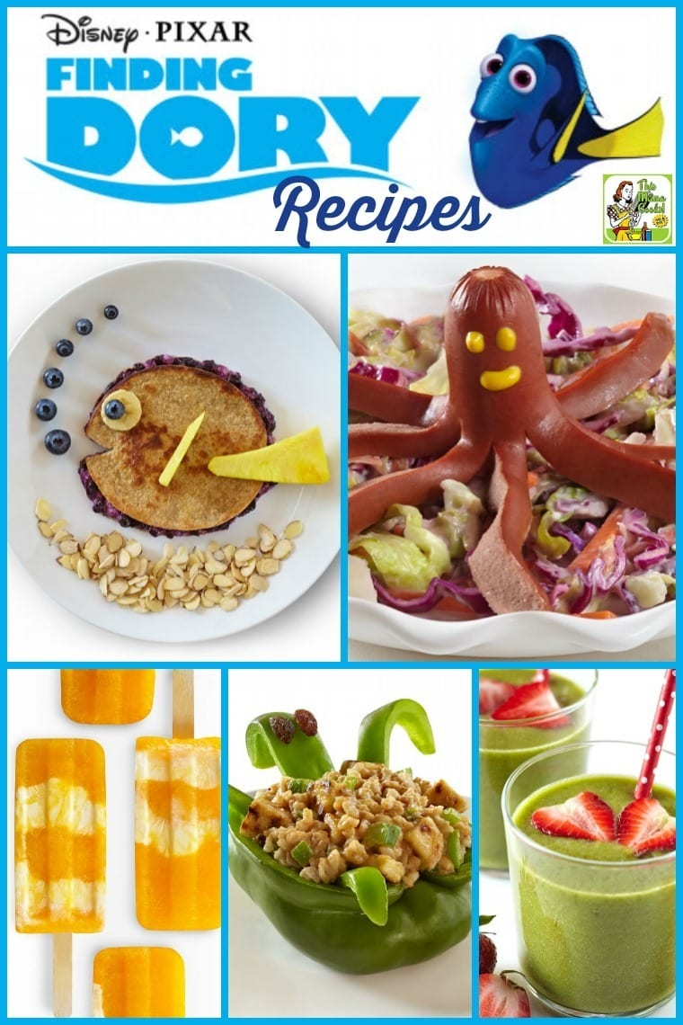 Cook up some Finding Dory movie themed kids' recipes courtesy of Disney and Pixar!
