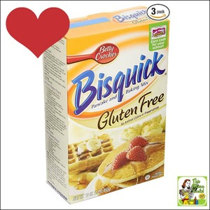 Best Gluten Free Products List: Bisquick Pancake and Baking Mix, Gluten-Free can be used to make gluten free waffles, too!