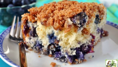 Blueberry Muffin Streusel Cake Recipe