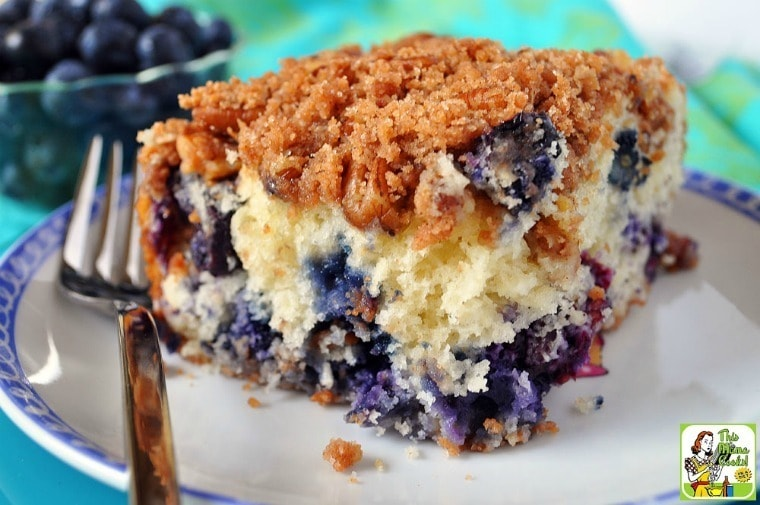Easy Blueberry Coffee Cake With Streusel Topping