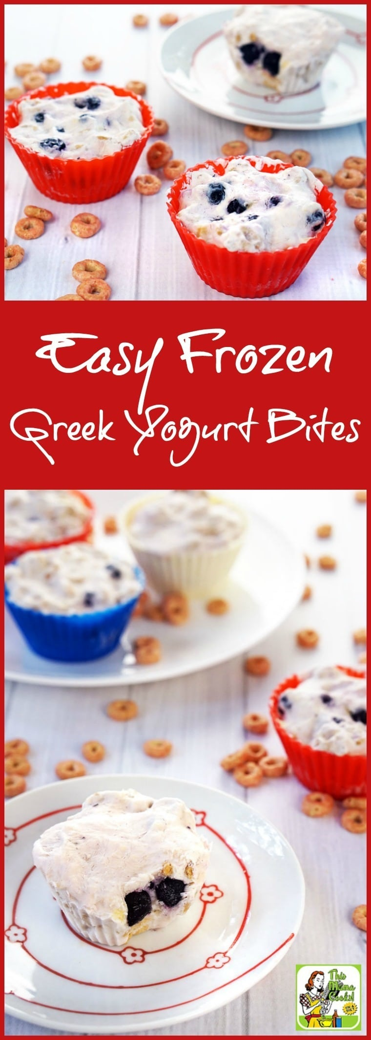 Looking for a healthy, protein packed Greek yogurt breakfast recipe? Click to get this Easy Frozen Greek Yogurt Bites recipe. Terrific as a healthy after school snack! Made with gluten free cereal and fresh or frozen fruit.