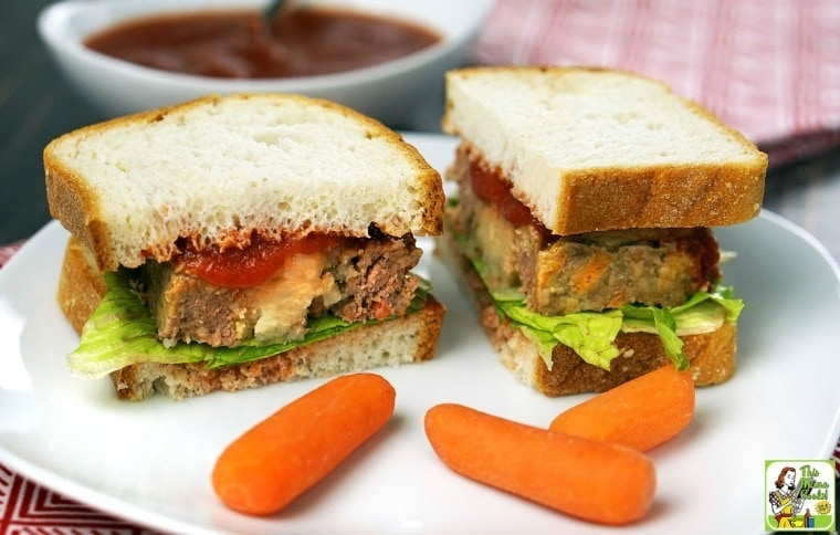 This Easy Gluten Free Meatloaf Stuffed with Mashed Potatoes makes delicious gluten free sandwiches.