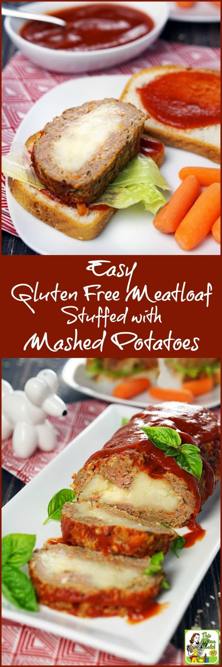 Looking for back to school sandwich ideas? Check out this Easy Gluten Free Meatloaf Stuffed with Mashed Potatoes recipe. Dinner leftovers make delicious gluten free sandwiches that your kids will love.