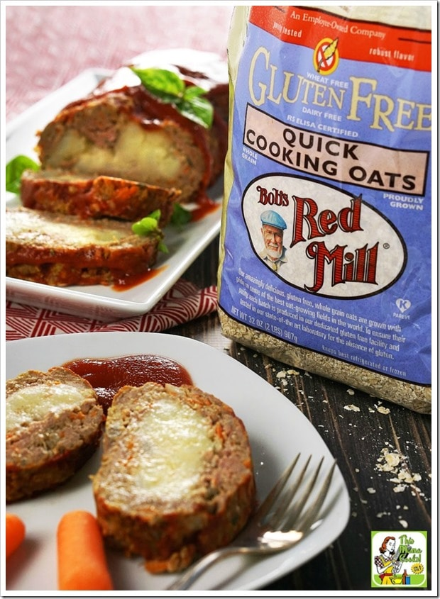Check out this Easy Gluten Free Meatloaf Stuffed with Mashed Potatoes recipe. It's gluten free because it's made with Bob's Red Mill gluten free quick cooking oats.