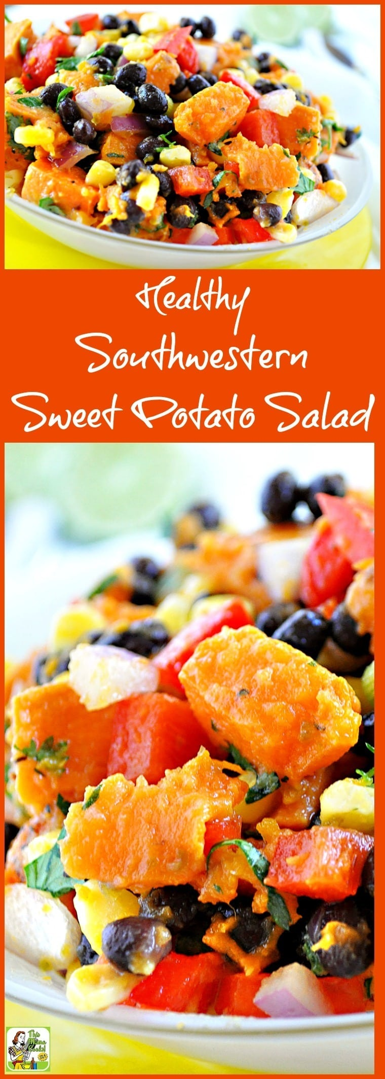 Try this Healthy Southwestern Sweet Potato Salad recipe! This cold sweet potato recipe is ideal for bbqs and potluck parties. Click to get this healthy, gluten free, and easy to make sweet potato salad recipe!