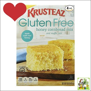 Best Gluten Free Products List: Krusteaz Gluten Free Honey Cornbread Mix is so delicious you can't believe it's a gluten free bread mix.