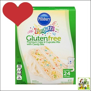 Best Gluten Free Products List: Pillsbury Funfetti Gluten Free Cake and Cupcake Mix makes gluten free baking fun!