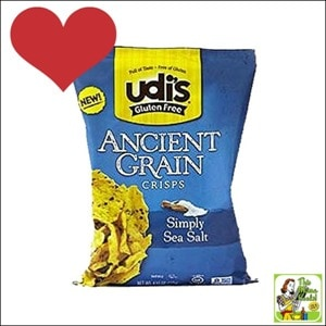 Best Gluten Free Products List: Udi's Gluten Free Ancient Grains Crisps, Simply Sea Salt