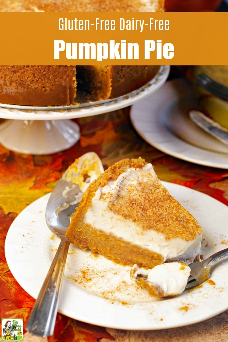A slice of Gluten Free Dairy Free Pumpkin Pie