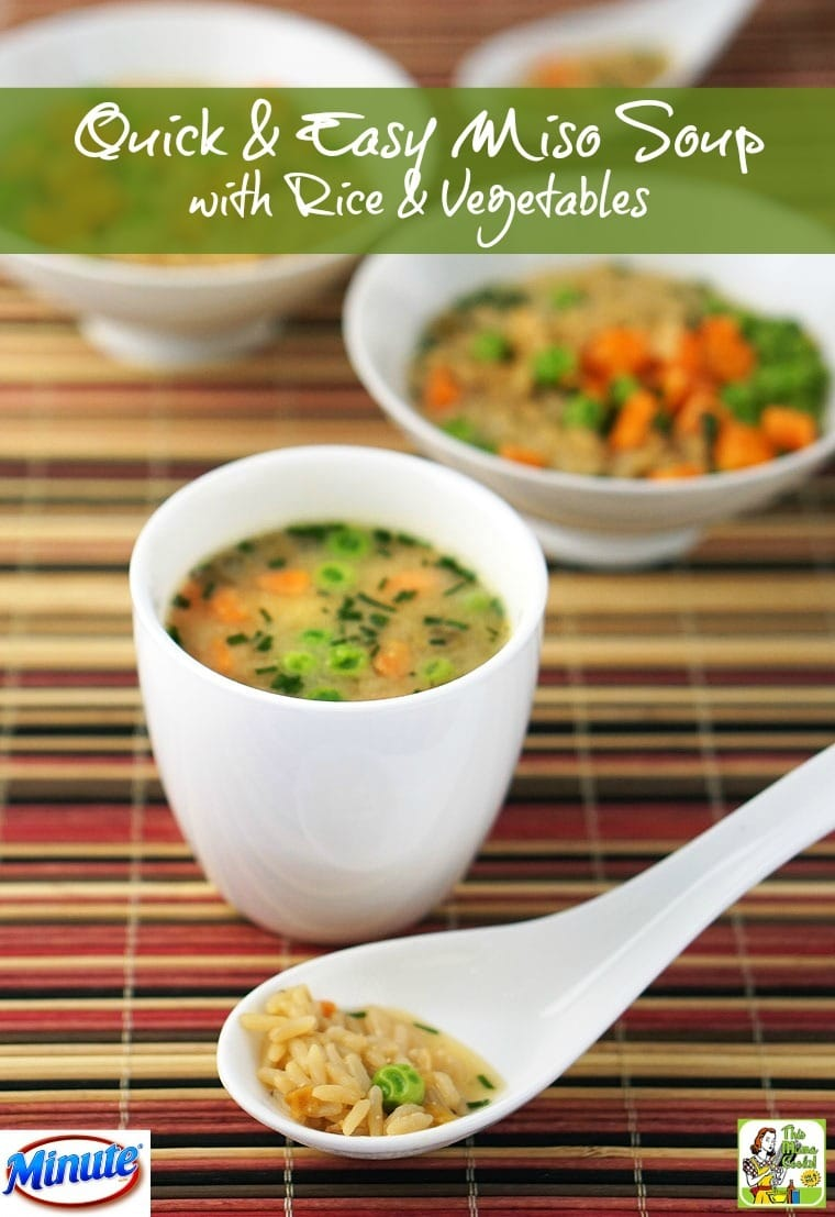 Quick & Easy Miso Soup with Rice & Vegetables | This Mama ...