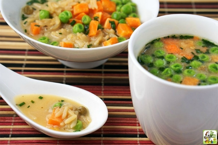 Quick & Easy Miso Soup with Rice & Vegetables.... : This Mama Cooks ...